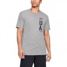UA VERTICAL LEFT CHEST LOGO SS Men